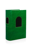Green book. Single green book over white background stock images