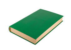 Green book close up. The green book isolated on a white background Stock Photo