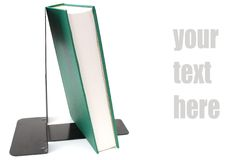 A green book deocration. Decorative single green book with text Royalty Free Stock Photography