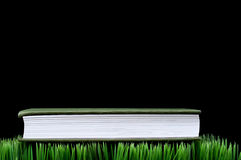 Green book on grass Royalty Free Stock Images