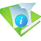 Green Book with Information Icon stock illustration