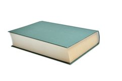 Green Book isolated. Book with green binding isolated on white background Royalty Free Stock Image