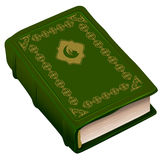 Green book Koran. Symbol of religion Islam. Isolated on white vector illustration Royalty Free Stock Images
