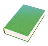 Green book lying isolated Royalty Free Stock Photo