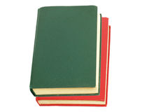 Green book and red book Royalty Free Stock Image