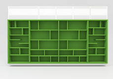 Green Book shelves Royalty Free Stock Images