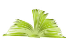 Green book. sketch style illustration Stock Image