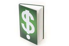 Green book with white pages Royalty Free Stock Photo