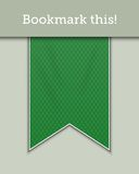 Green bookmark decoration ribbon Stock Photo
