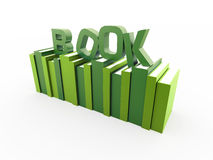 Green books concept with book Royalty Free Stock Photos