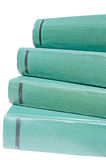 Green books isolated Stock Photography