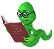 Green bookworm Stock Photography