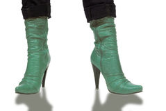 Green boots Royalty Free Stock Images