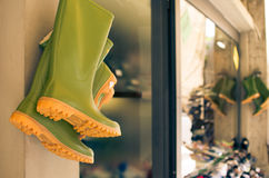 Green Boots royalty free stock photo
