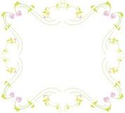 Green Border. A floral illustration art work Stock Photography