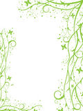 Green border. Abstract green spring-summer border with butterflies Royalty Free Stock Image