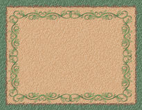 Green Border on Coarse Paper Royalty Free Stock Photos