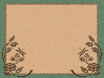 Green Border on Coarse Paper Stock Photography