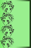 Green border with floral ornaments Royalty Free Stock Image