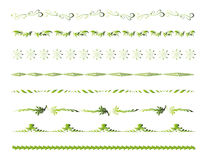 Green Border Line Decoration Elements Royalty Free Stock Photo