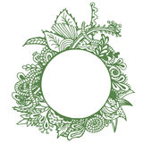 Green border on white background. Stock Images