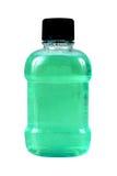 Green bottle. Of mouthwash Stock Photos