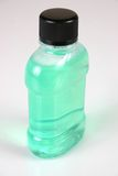 Green bottle 2. Green bottle of mouthwash Royalty Free Stock Photo