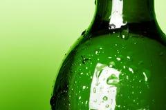 Green bottle stock image