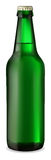 Green bottle of beer Stock Images