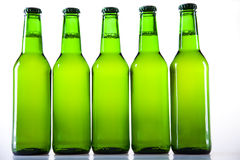 Green bottle of beer Stock Photo