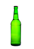 Green bottle of beer. Photographed on a white background Royalty Free Stock Photos