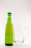 Green bottle of beer Royalty Free Stock Images
