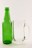Green bottle of beer Stock Image