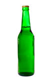 Green bottle of beer isolated Stock Photography