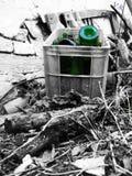 Green bottle Stock Photo