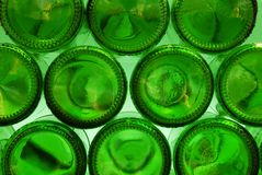 Green Bottle Bottoms Royalty Free Stock Photos