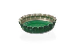 Green bottle cap Stock Photo