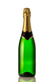 Green bottle of champagne Royalty Free Stock Images