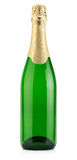Green bottle of champagne isolated on the white background Stock Photography