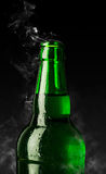 Green bottle of chilled beer Royalty Free Stock Image
