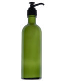 Green bottle, clip-pathed Stock Image
