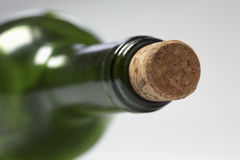 Green bottle with a cork Royalty Free Stock Images