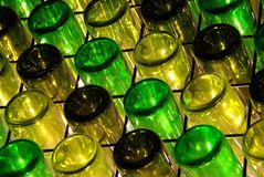 Green Bottle Diagonals Royalty Free Stock Photos