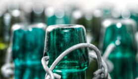 Green, Bottle, Glass Bottle, Water