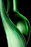 Green bottle lines Stock Image