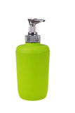Green bottle for liquid soap Stock Photography