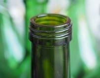 Green bottle neck Royalty Free Stock Photos