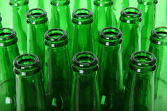Green Bottle Necks Stock Photography
