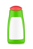 Green bottle of shampoo Stock Images