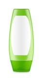 Green bottle of shampoo Stock Images